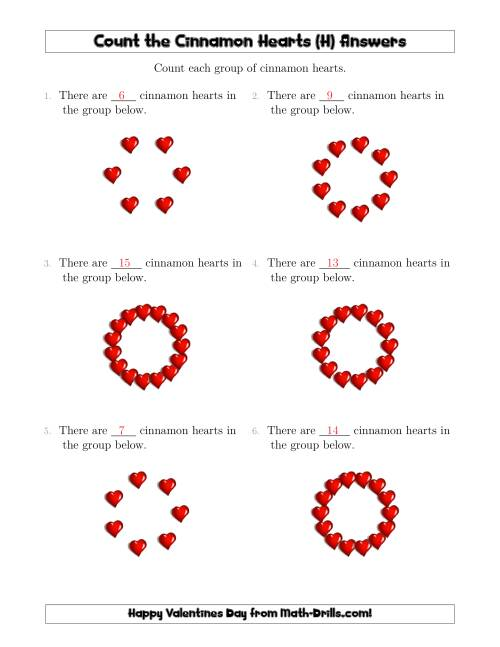 The Counting Cinnamon Hearts in Circular Arrangements (H) Math Worksheet Page 2