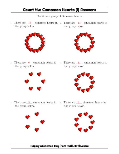 The Counting Cinnamon Hearts in Circular Arrangements (I) Math Worksheet Page 2