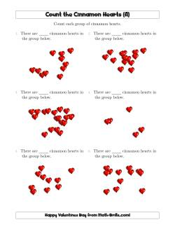 Counting Cinnamon Hearts in Scattered Arrangements (A)
